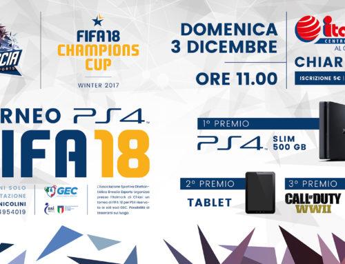 ITALMARK CHIARI – FIFA18 – 1VS1 – IN PALIO 300 EURO GIFT CARD